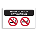 Static Cling Reminders - NSSC No smoking  - BOX of 100