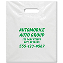 White Plastic Patch Handle Bags - 15 x 18 x 4 - CUSTOM -  Qty. 1